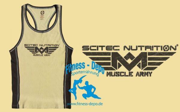 Scitec Nutrition Muscle Army TANK Vest T-shirt Top - Desert