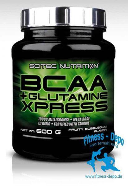 """BCAA + GLUTAMINE XPRESS 600 g """"Fruchtiger Bubblegum-Geschmack"""""""