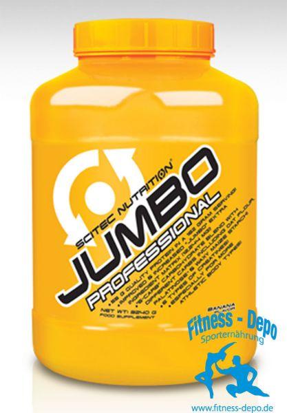 Scitec Nutrition JUMBO PROFESSIONAL 3240g(15,70/kg)Dose + Shaker + Proben#
