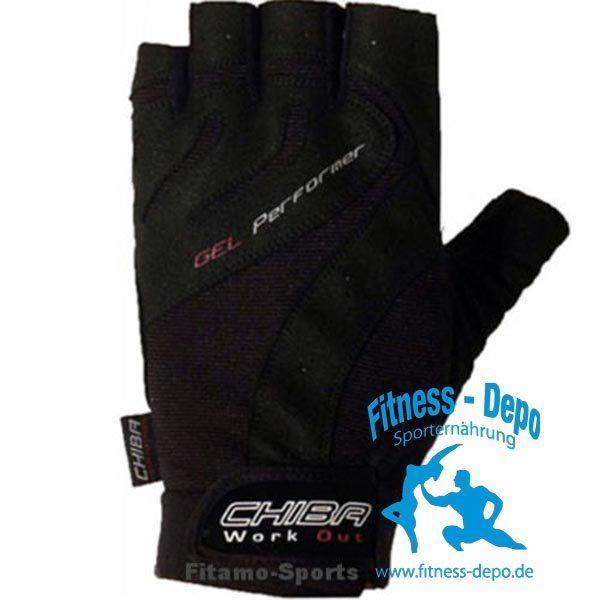 Chiba Gel Performer Handschuhe Fitness Trainingshandschuhe versch.Größen Schwarz