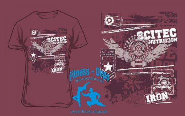 Scitec Nutrition T-Shirt Made Of Iron Burgundy