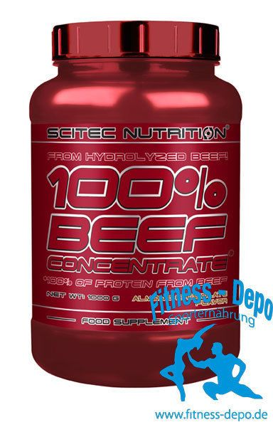 Scitec Nutrition 100% Beef Concentrate 1000g Dose + Gratis Probe x