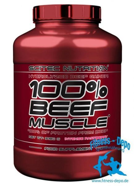 Scitec Nutrition 100% Beef Muscle 3180g Eiweiss + Shaker + Probe