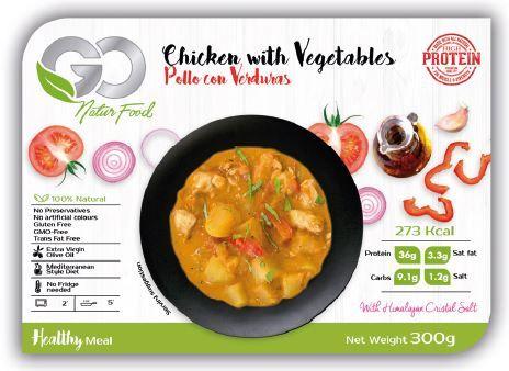 Fertiggericht mit Hühnchen, Gemüse und Kartoffeln 300g