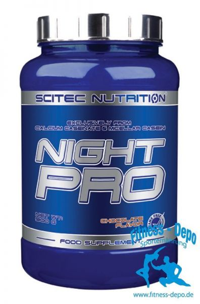 Scitec Nutrition Night Pro 900g Eiweiss + Shaker + Probe
