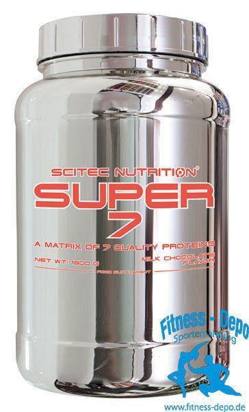 SUPER-7 Eine Matrix von 7 Qualitätsproteinen 1300 g + Shaker