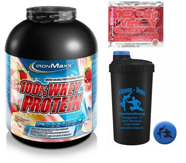 Iron Maxx100% Whey Protein (2350g) (16,97? / 1 Kg)+ Shaker und Proben Aktion!#