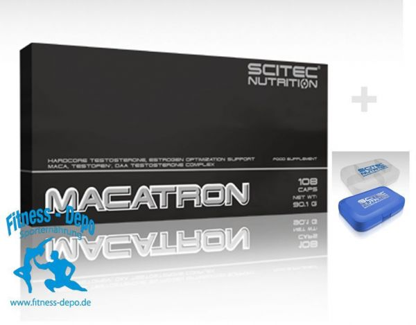MACATRON 108 Kapseln Scitec Nutrition + Pillenbox