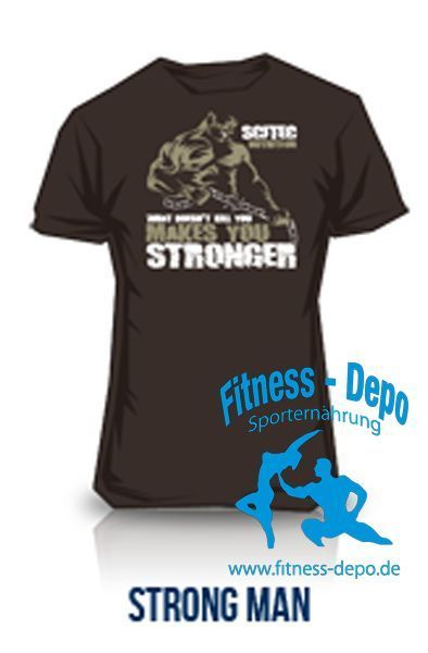 "Scitec T-Shirt ""Strong Man"" für Bodybuilding und Fitness"