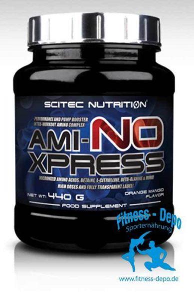 Scitec Nutrition AMI-NO XPRESS 440g + Shaker und Proben.