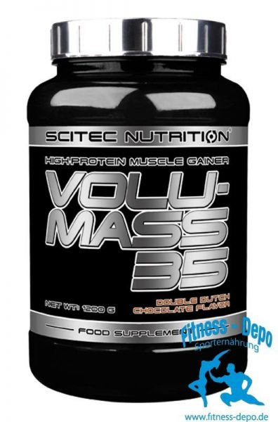 Scitec Nutrition Volumass 35 - 1200g Weight Gainer + Shaker + Probe
