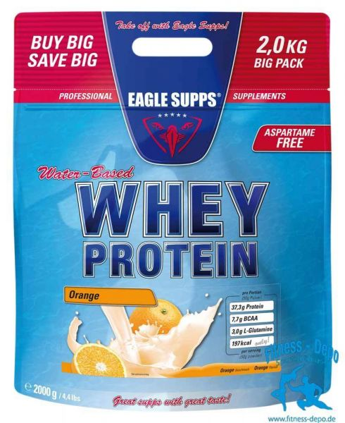 EAGLE SUPPS® Water-Based Whey Protein 2000g + Shaker + Proben