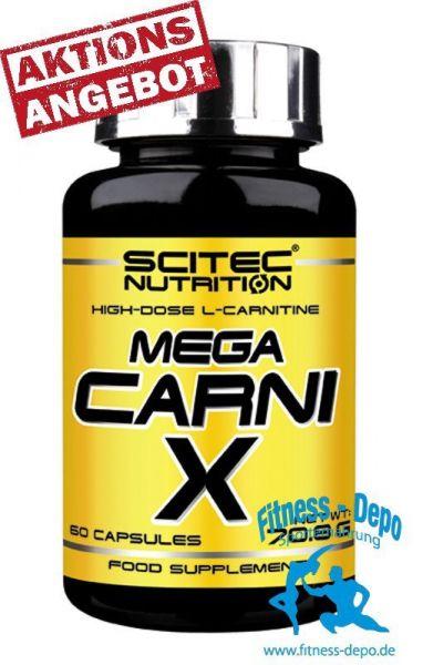 Mega Carni-X - 60 Kapseln (Scitec Nutrition) 1000mg L-Carnitine pro Kapsel !